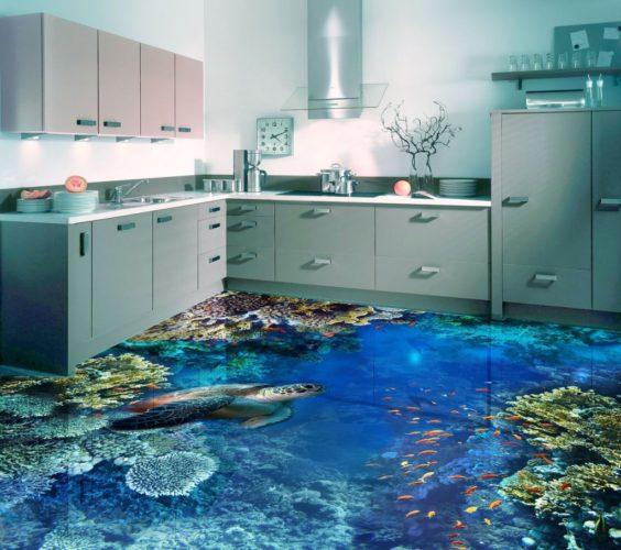 3D-полы на кухне