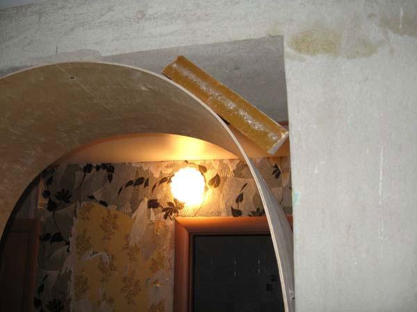 Круглая арка из гипсокартона