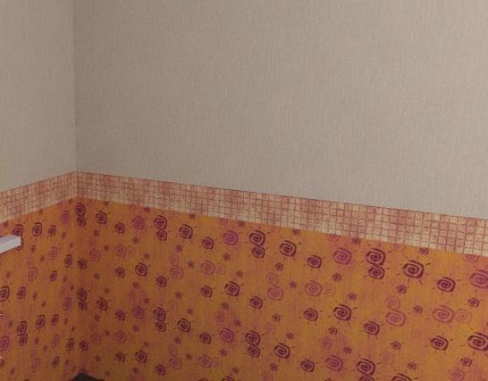 Влагостойкий бордюр для ванной