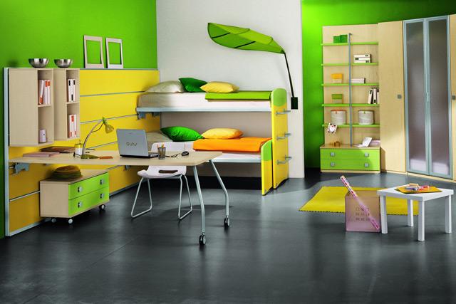 Зелёный стиль детской
