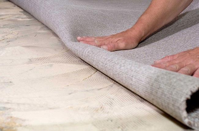 Прорезиненный ковролин - идеальное решение для этого помещения