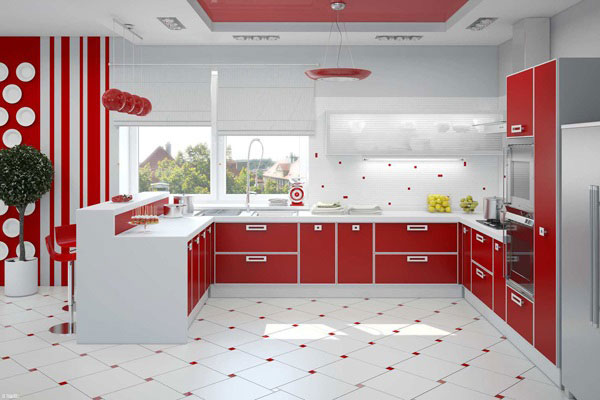 Плитку на пол и стены можно выбрать в одной цветовой гамме