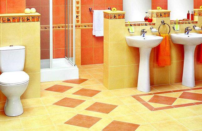 Напольная керамическая плитка для ванной