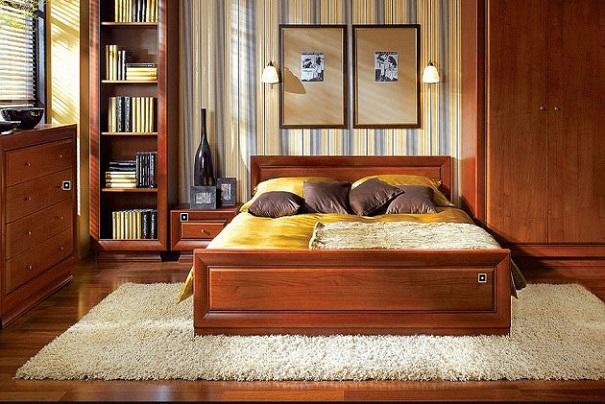 Светлый ковер в спальне с длинным ворсом