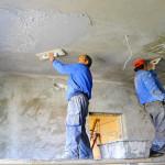 «Мокрый способ» выравнивания потолка