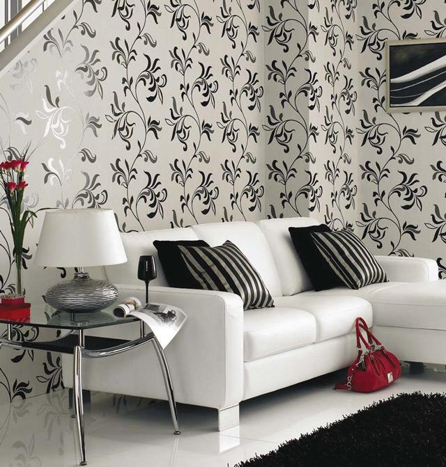 Рисунок на обоях также влияет на атмосферу в помещении