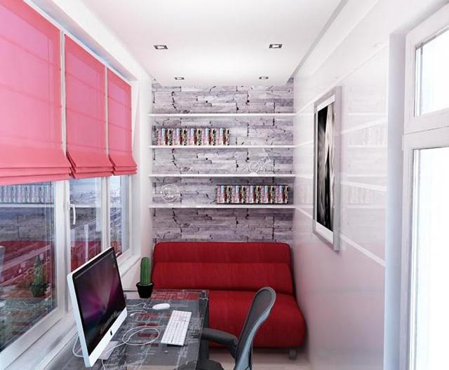 Из остекленного балкона получится отличный кабинет