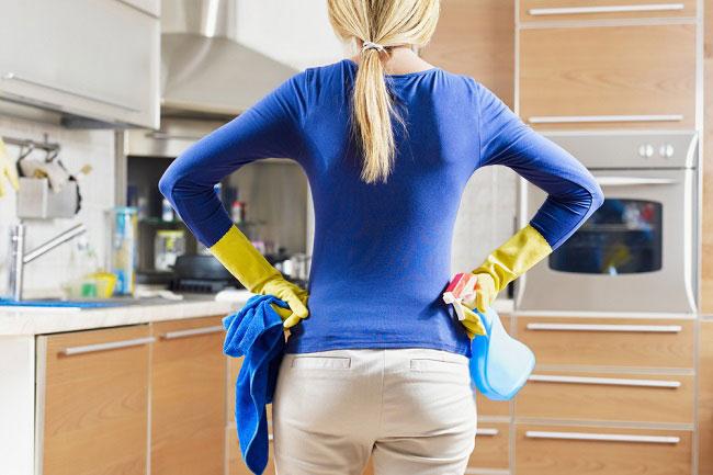 Пол на кухне должен легко очищаться от загрязнений