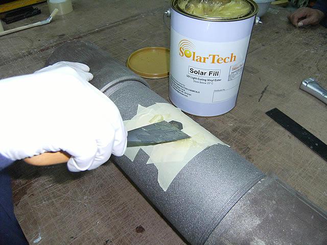 Специальной грунтовкой нужно покрыть трубу после удаления ржавчины