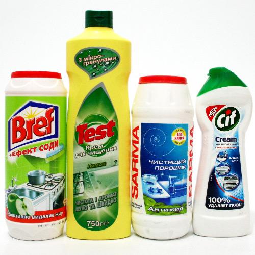 Существует множество универсальных чистящих средств