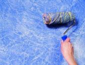Нанесение структурной краски валиком