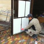 Утепление разъёмной металлической двери