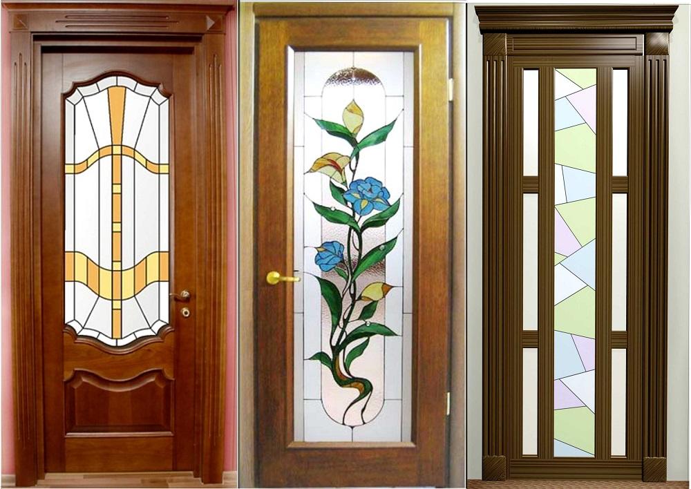 Многообразная декоративная отделка межкомнатных дверей