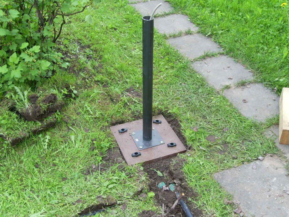 Подведение кабеля под землёй