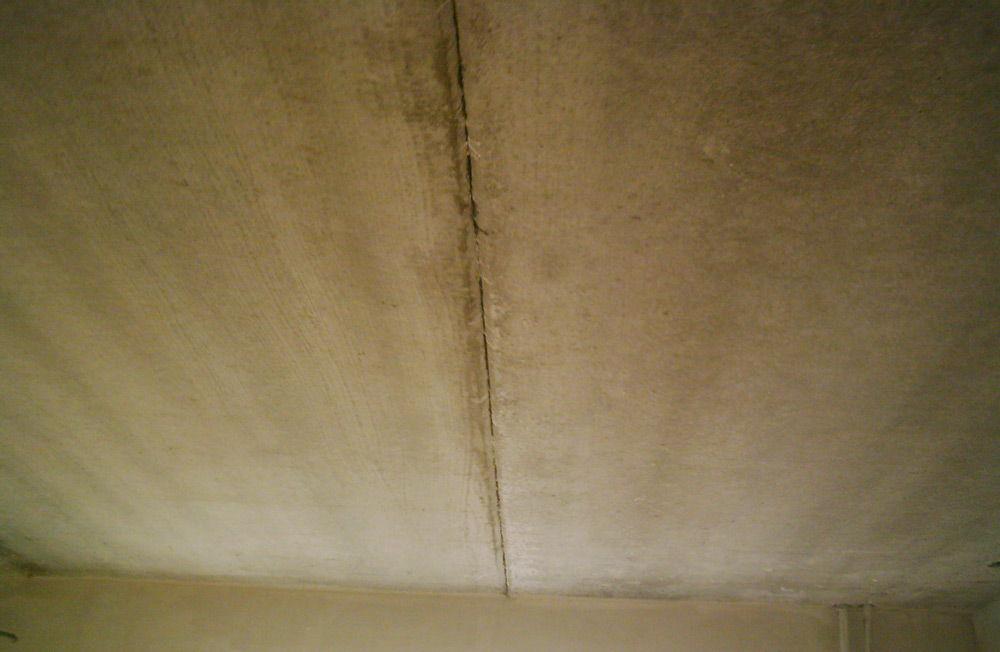 Очищенный потолок