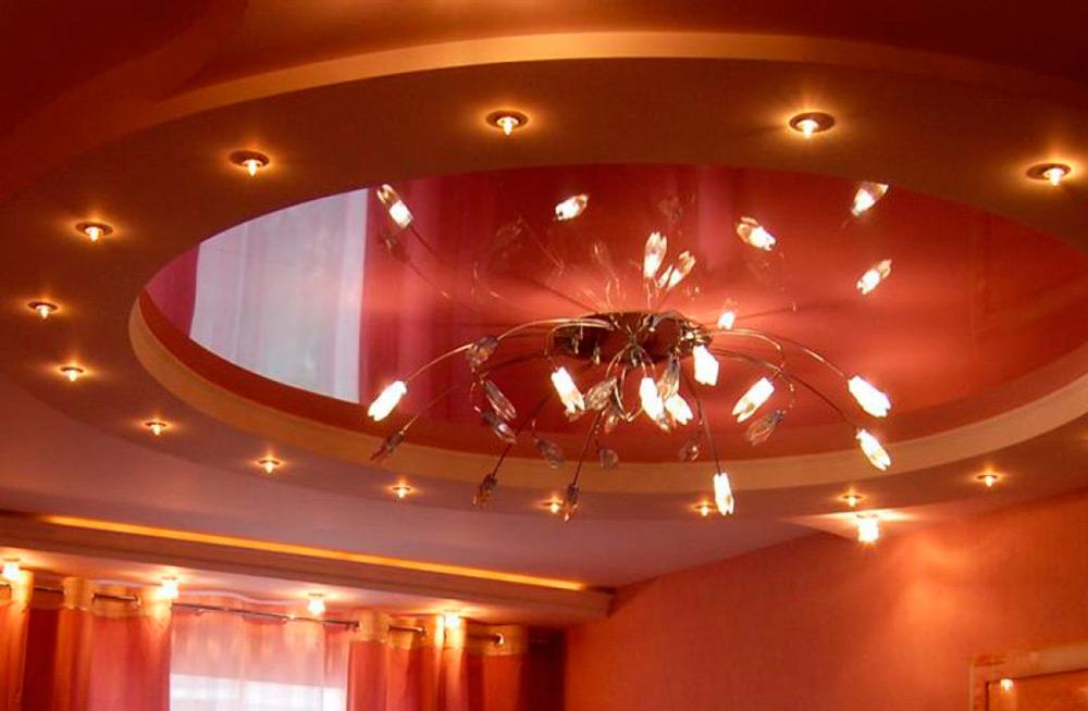 Люстра на подвесной потолок
