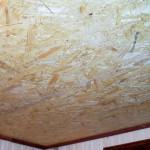 Потолок из декоративной фанеры