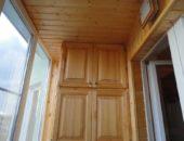 Потолок на балконе вагонкой