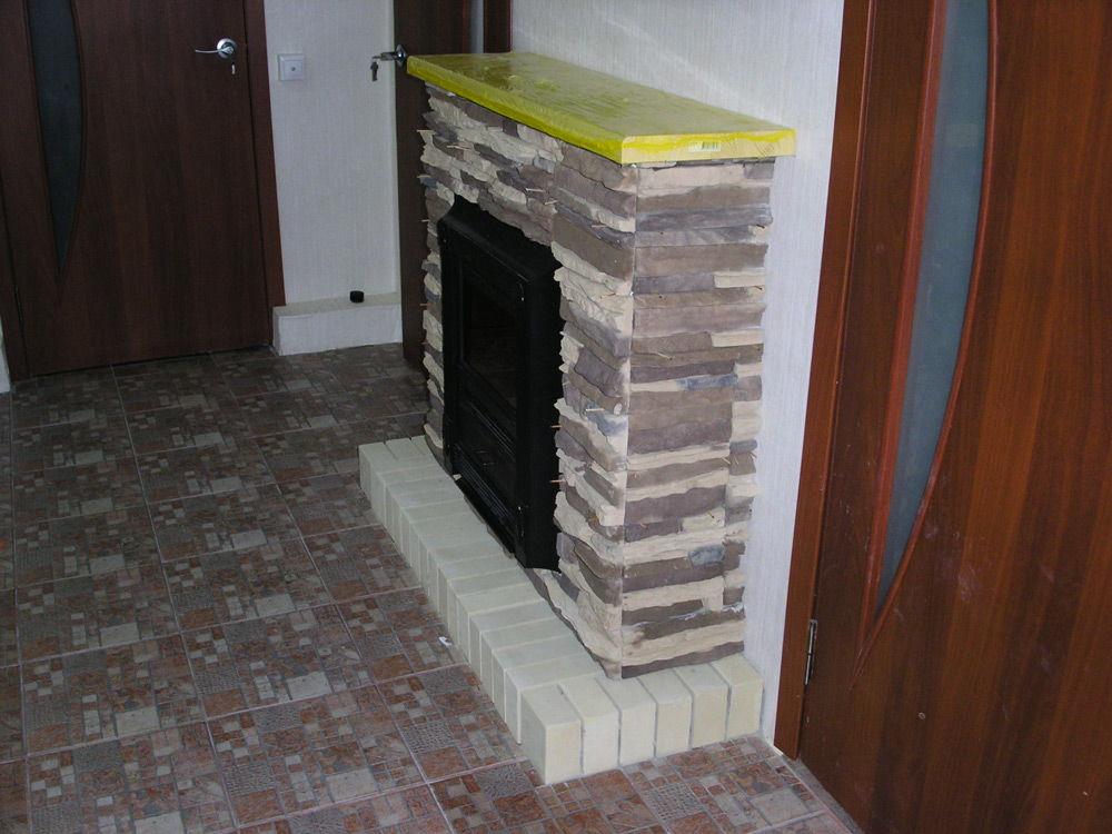 Камин после отделки