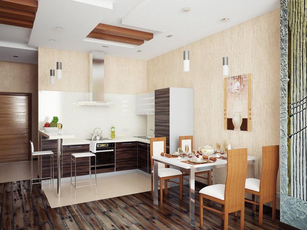 Небольшая кухня-столовая