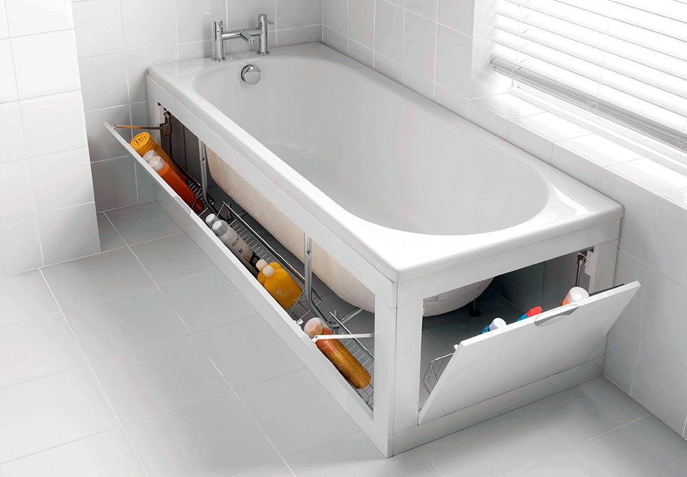 Полки под ванной