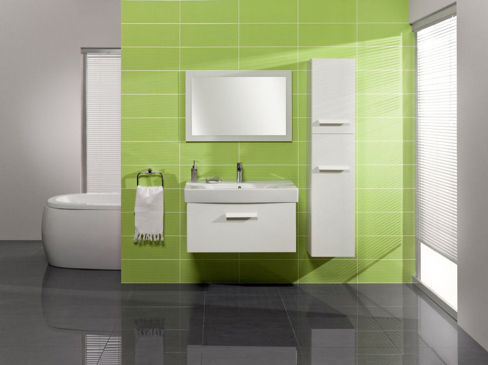Размещение зеркала в ванной