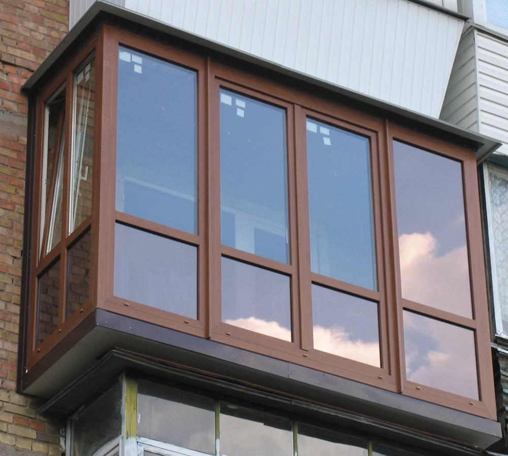 Французский балкон из металлопластика