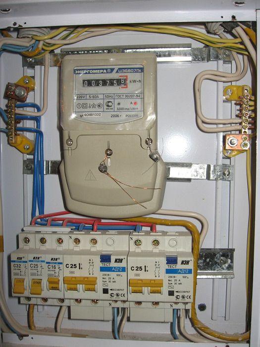 Электрический щиток в квартире  сборка c74061a8a7557