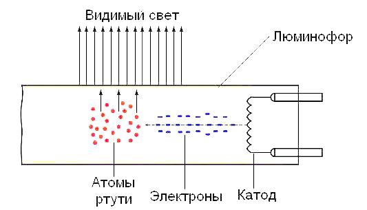 Принцип работы энергосберегающей лампочки