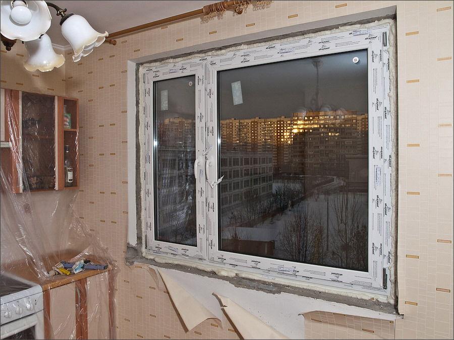 Пластиковое окно с плёнкой