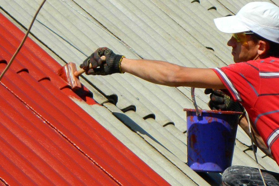 Покраска крыши резиновой краской