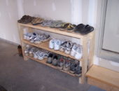 Самодельная полка для обуви