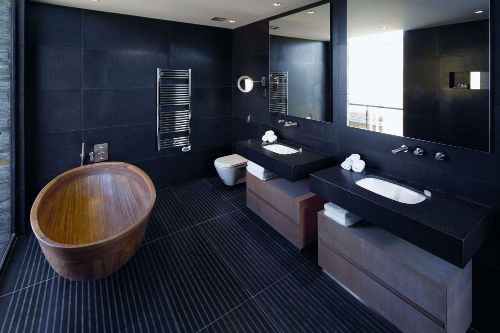 Ванная в чёрном цвете