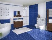 Ванная в синем цвете