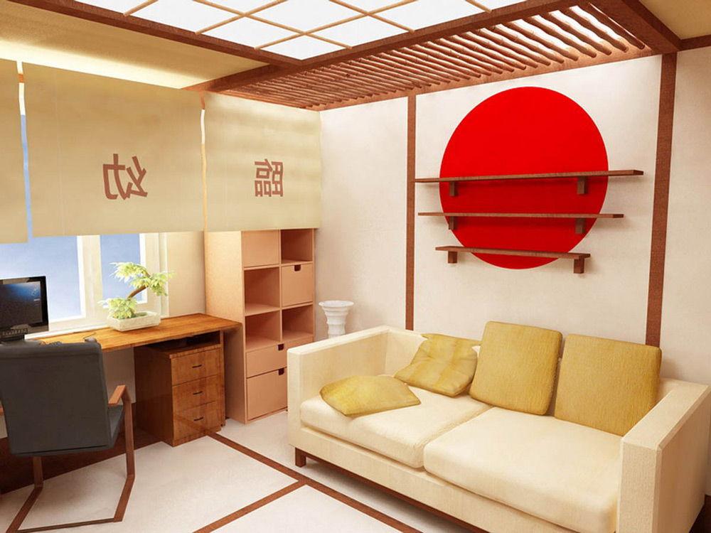 Вариант интерьера в японском стиле