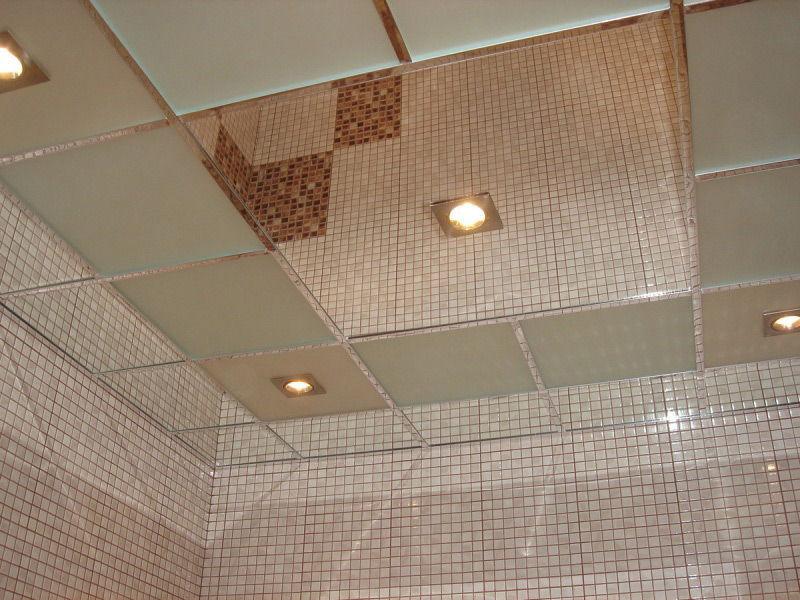 Зеркальный полистирольный потолок