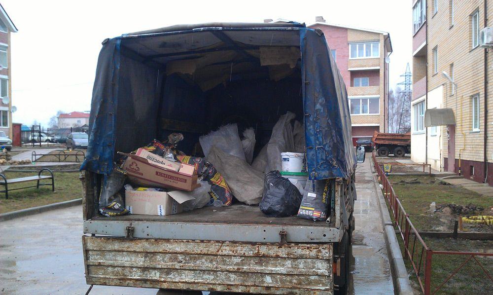Погруженный строительный мусор