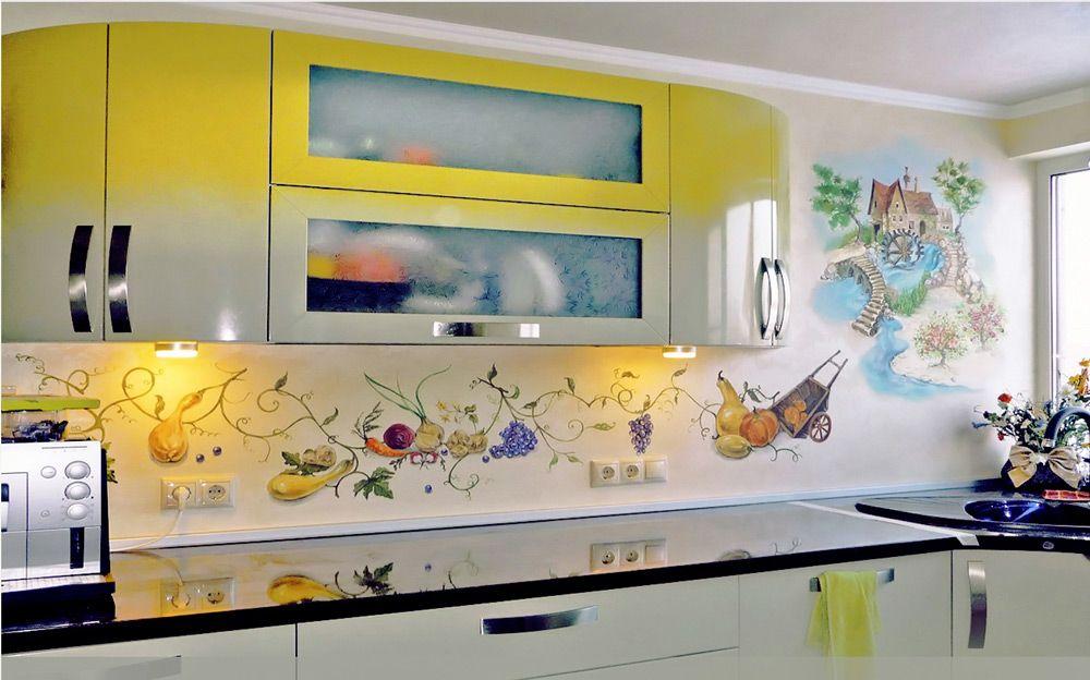 Роспись на кухне