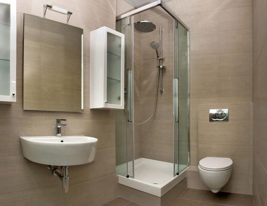 дизайн ванная комната с душевой кабиной фото