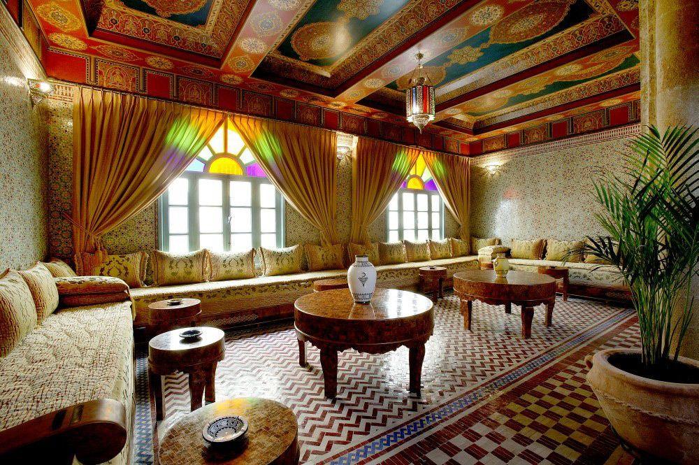 Вариант использования марокканского стиля в интерьере