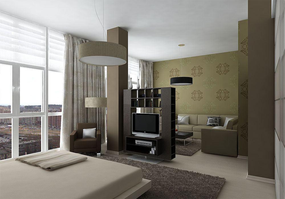 Минималистичная квартира с панорамными окнами