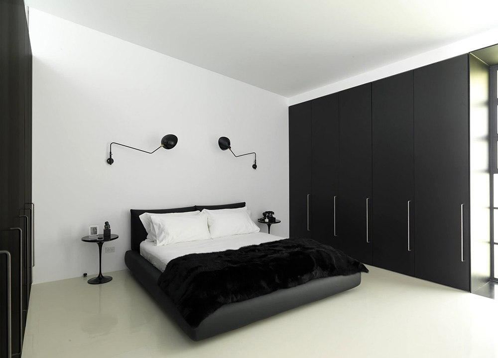 Кровать и спальная комната в минимализме