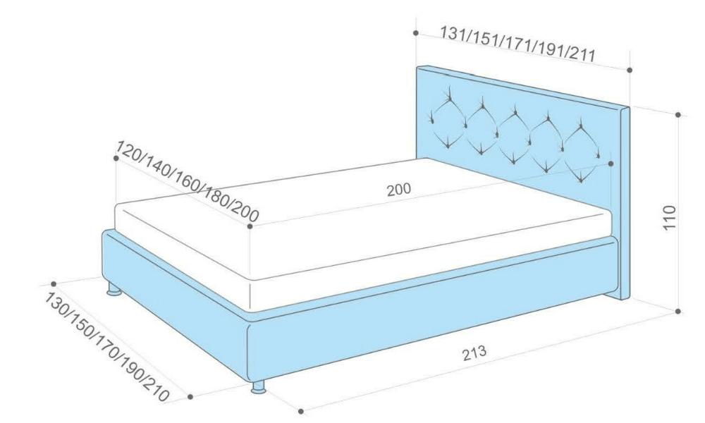 Пример выбора кровати по размерам