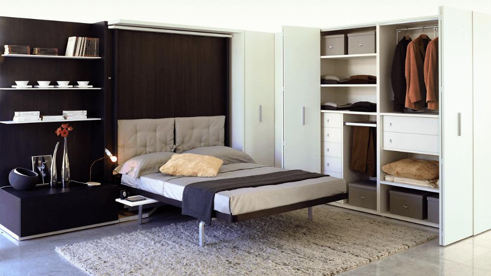 Раскладная кровать из шкафа