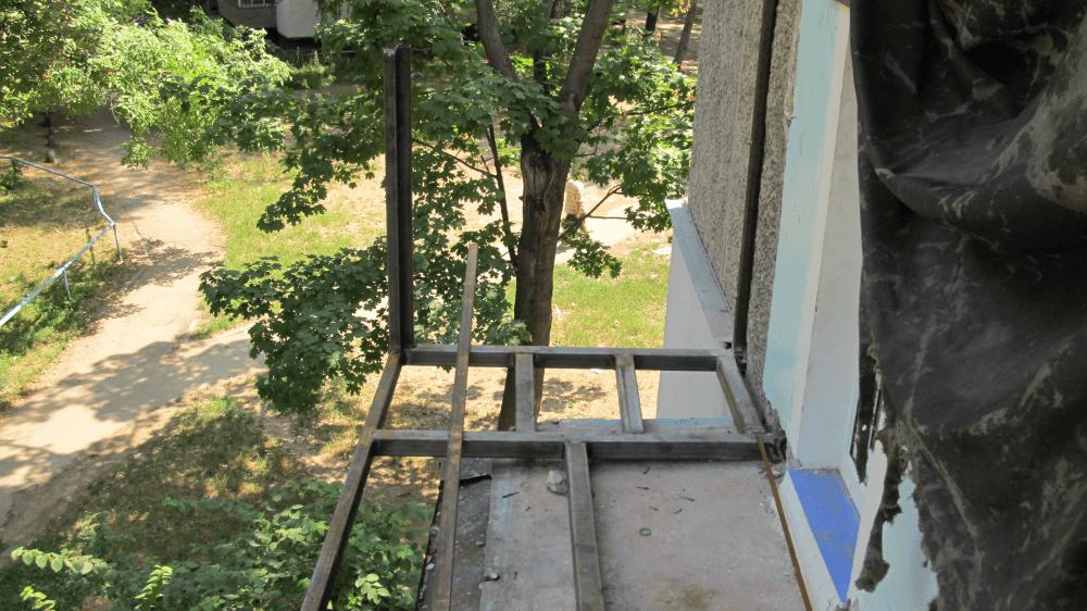 Сварка сооружения пола балкона