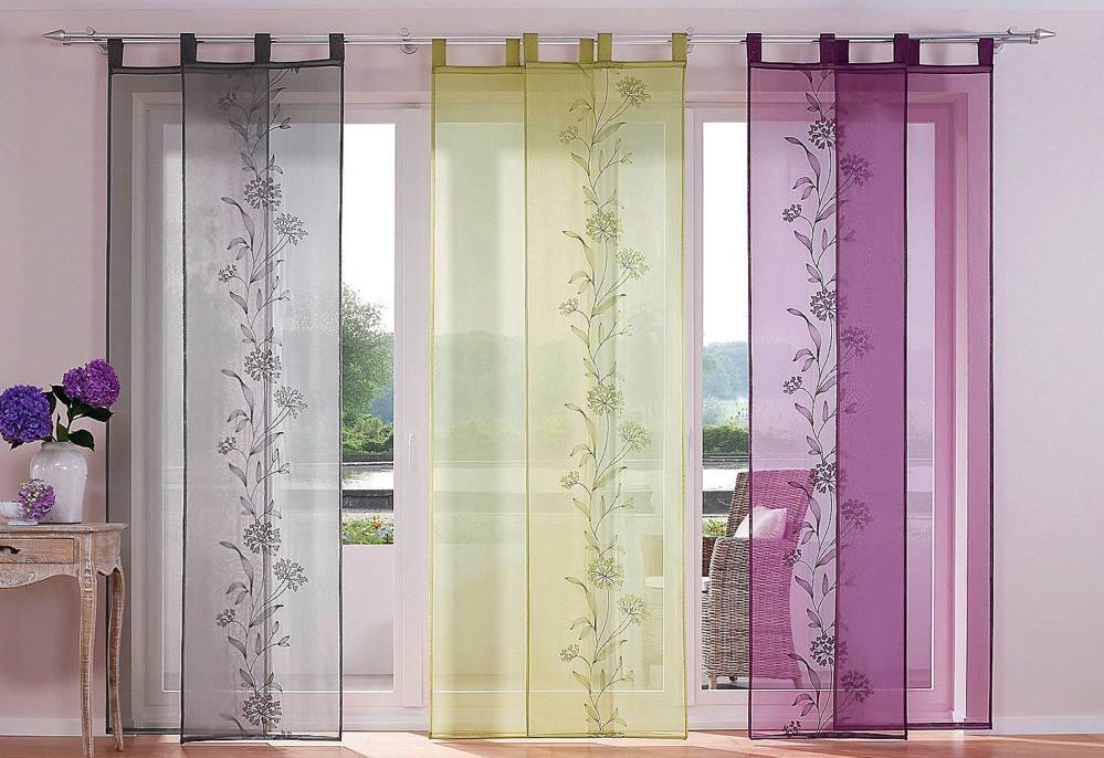 Прозрачные шторы в японском стиле
