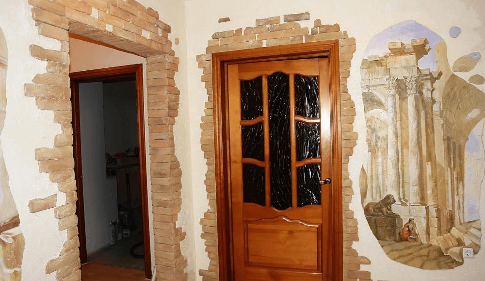 Дверные проёмы из декоративного кирпича