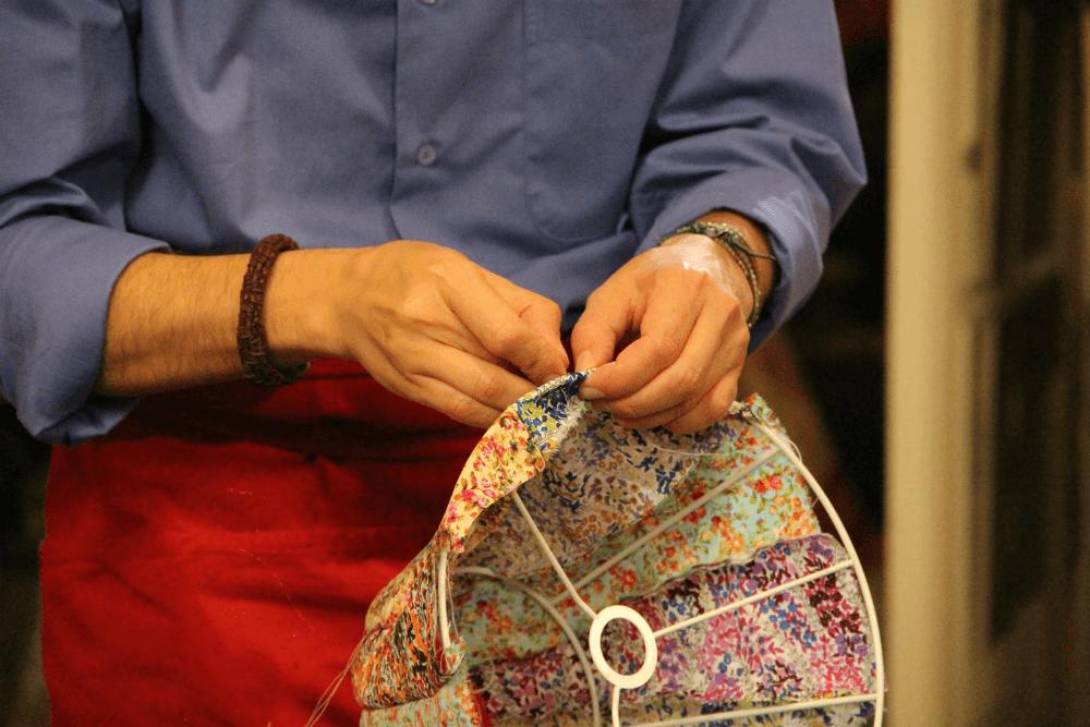 Создание абажуры из ткани своими руками
