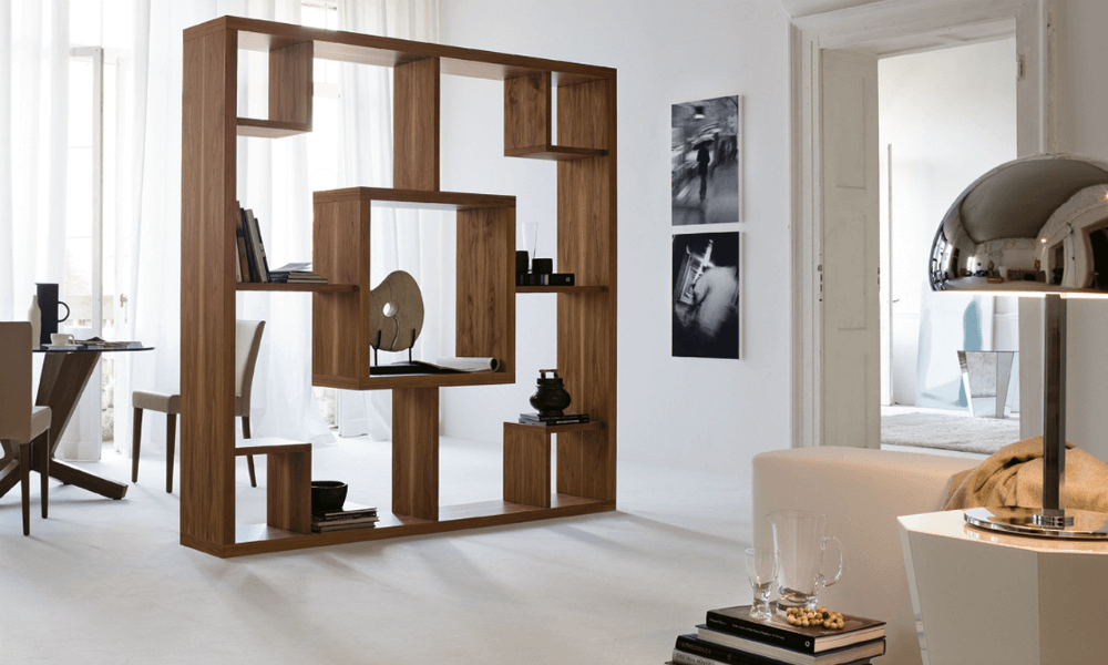 Стеллаж - стена для квартиры студии