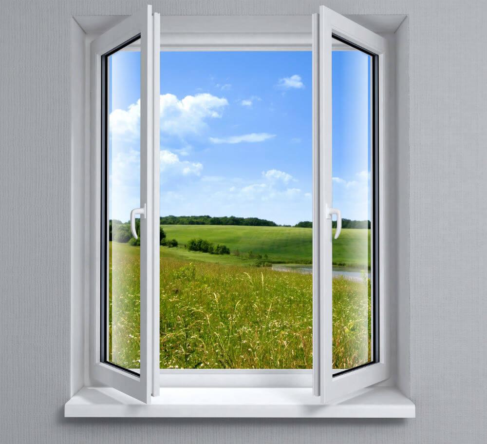 Поворотные металлопластиковые окна